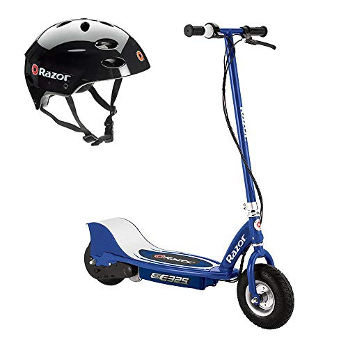 Razor E325 Adult & Teen Ride On 24V High-Torque Motorized Powered Electric Scooter, Speeds up to 15 MPH - With Brakes, Pneumatic Tires, Pads, and Helmet, Navy