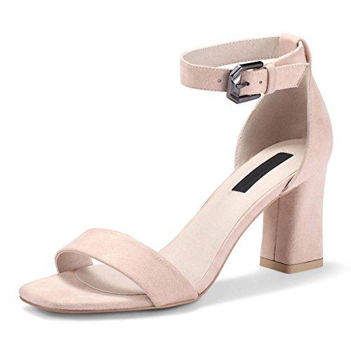Liuxuepin Word Con Sandali Donna Estate Nuove Scarpe Retro Spesso Con Scarpe Coreano Tacchi Alti Femminili (colore: Nero, Misura: 36)