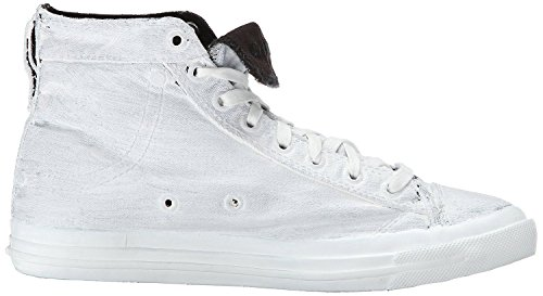 Diesel Exposure I Blanco Negro Hombres Canvas Hi Sneakers Botas