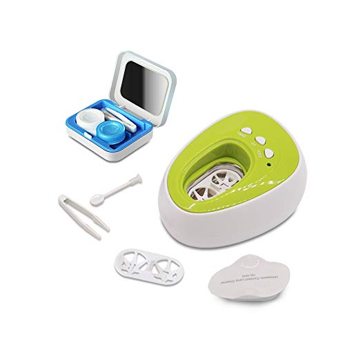 DONGSEN Portable Auto Ultrasonic Contact Lens Cleaner Case, Fast Vibration Sonic Cleaning for Daily Care Device ()
