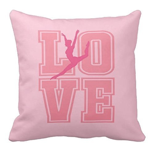 Sashay Throw Pillow Cover, Custom LOVE, Bedding for Dancers, Navy Blue, Coral, White or ANY COLOR, 16x16