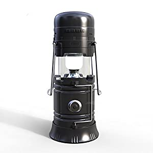 413KutLRt8L. SS300  - LED Camping lantern Portable Outdoor Flashlight Bluetooth Speaker FM Radio Call Reminder Solar Charging 2200Mah Power Bank Camping Gear for Camping Hunting Hurricane Emergencies Support TF Card / FM