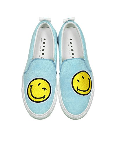 Chaussures JOSHUA SANDERS Femme Skate 10048SRW Tissu De Bleu Claire HCHrYwq