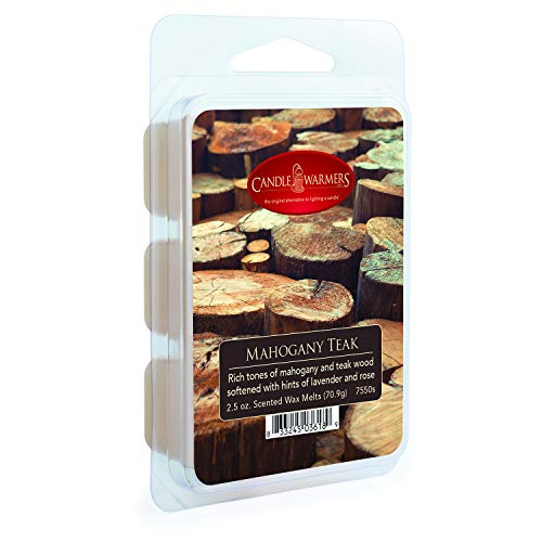CANDLE WARMERS ETC. Classic Wax Melts for Scented Wax Cube and Tart Warmers, Mahogany Teak, 2.5 ()