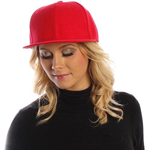 Unisex Accessoryo Snapback Sombrero Liso Rojo WrHrqnU