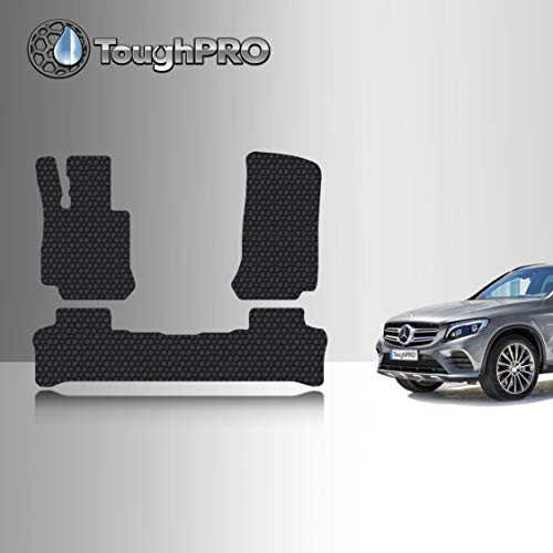 TOUGHPRO Floor Mat Accessories Set (Front Row + 2nd Row) Compatible with Mercedes-Benz GLC - All Weather - Heavy Duty - (Made in USA) - Black Rubber - 2016