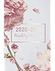 2020-2021 Monthly Planner: Marble Flower Cover | 2 Year Calendar 2020-2021 Monthly | 24 Months Agenda Packet Planner with Holiday | Academic Schedule Organizer Logbook and Journal Notebook Habit Tracker | Password Log | Personalized Appointment Book