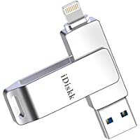 iDiskk 256GB USB 3.0 Flash Drive for iPhone X,iPhone Xs...