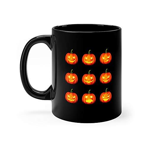 Set Of Jackolanterns Eps10 Pumpkin Carving Coffee Awesome Mugs Ceramic Cups 11oz