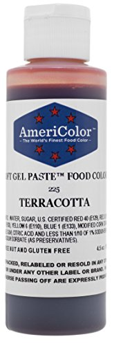TERRACOTTA SOFT GEL PASTE 4.5 OZ Cake Decorating