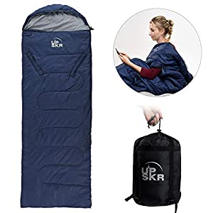 UPSKR Sleeping Bag Lightweight & Waterproof for Adults & Kids Cold Weather, 4 Season Rectangular Sleeping Bags Great for Indoor & Outdoor Use Hiking Backpacking Camping Traveling with Compression Sack 7