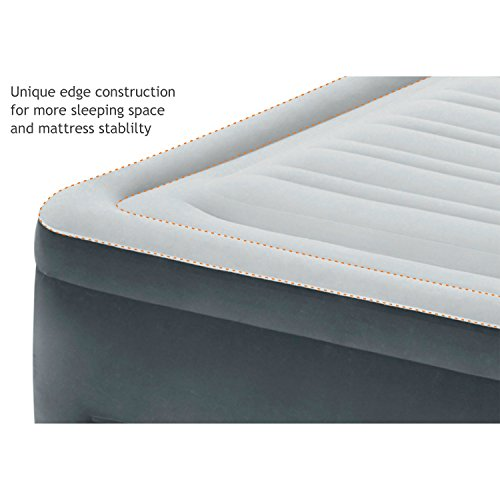 Intex Comfort Plush Elevated Dura-Beam Airbed with Built-in Electric Pump, Bed Height 22, Queen