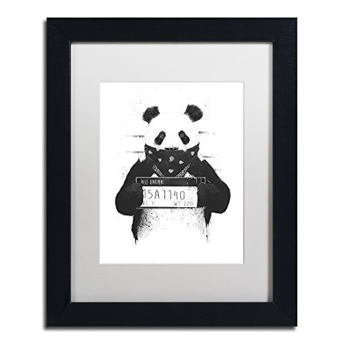 Bad Panda by Balazs Solti, White Matte, Black Frame 11x14-Inch from Trademark Fine Art
