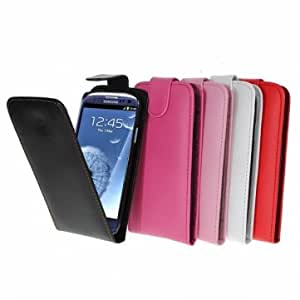 Flip PU Leather Case Skin Cover Pouch For Samsung Galaxy S3 SIII i9300 --- Color:Black