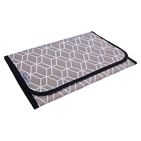 Portable Baby Changing Mat / Pad - Travel - GubbleBum - Geo Design - Travel Pad