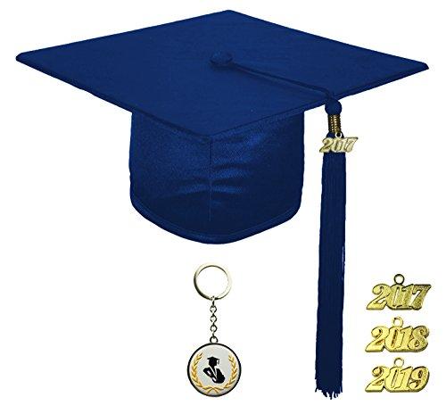 [해외]FIT4GRAD 반짝이 디럭스 졸업 캡 술집 인장 세트 2017 2018 2019, 남색/FIT4GRAD Shiny Deluxe Graduation Cap Tassel Signet Set 2017 2018 2019, navy blue