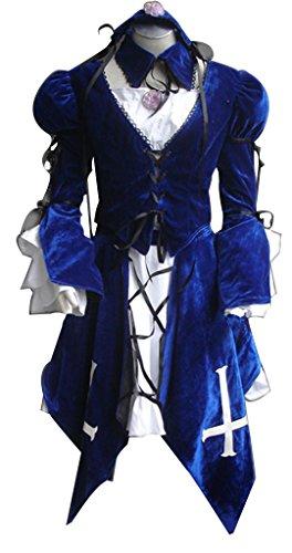 [Mtxc Women's Rozen Maiden Cosplay Suigintou Costume Size XX-Large Blue] (Rozen Maiden Suigintou Costume)