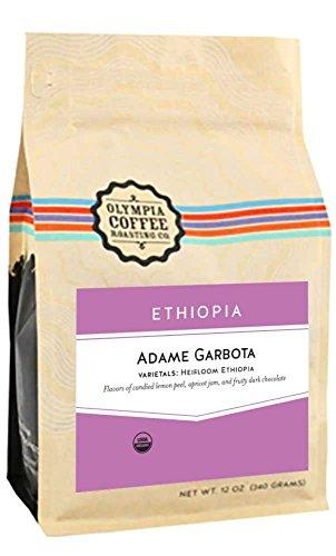 Olympia Coffee ''Ethiopia Adame Garbota Organic'' Medium Roasted Fair Trade Organic Whole Bean Coffee - 5 Pound Bag by GoCoffeeGo