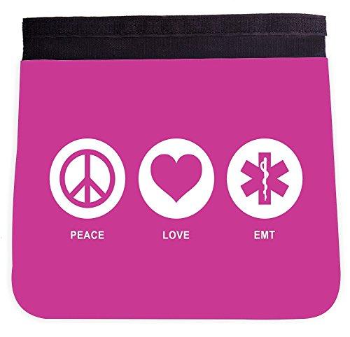 Peace Love EMT Rose Pink Color Design Front Interchangeable FLAP for Premium UKBK BackPack - FLAP ()