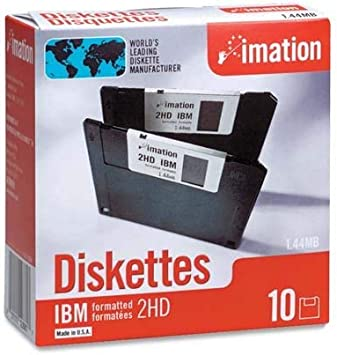 """DOUBLE SIDED HIGH DENSITY 3.5/"""" Floppy Disks 1.44MB 10 PACK Disks USED"""