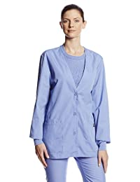 Cherokee Women's Workwear Scrubs Cardigan Warm-Up Jacket