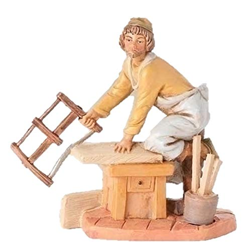 - Fontanini Amos the Carpenter with Saw Italian Nativity Villager Figurine