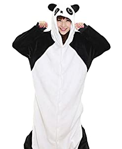 Adrinfly One-piece Hooded Pajamas Unisex Costume Adult Animal Onesie Panda Cosplay