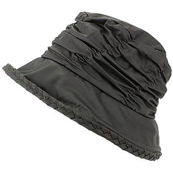 Hawkins Damen wasserfest Wachs Glocke Hut mit gerüscht Krone und Tartan kariert Innenfutter
