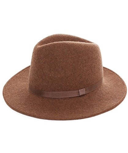 PS by Paul Smith Women's Wool Fedora Hat S Beige by PS by Paul Smith