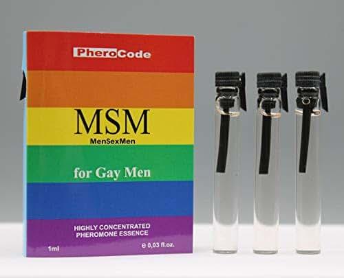 PheroCode MSM 0.03 Fl. Oz+0.03 Fl. Oz+0.03 Fl. Oz 100% Pheromone Gay Attract Men Very Strong Fast Post
