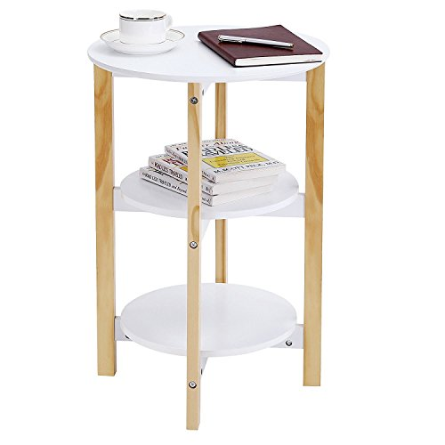 Indoor Multi-function Accent table Study Computer Desk Bedroom Living Room Modern Style End Table Sofa Side Table Coffee Table Three Round Face Table by DASII (Image #1)
