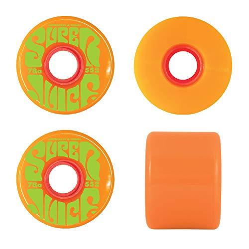 (OJ III Skateboard Cruiser Wheels Mini Super Juice Orange 55mm 78A)