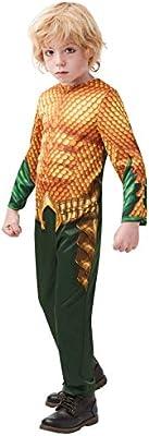 DC Comics - Disfraz de Aquaman para niños, infantil 7-8 años ...