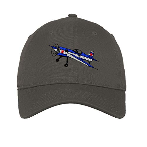 Speedy Pros Low Profile Soft Hat Acrobatic Plane Embroidery Design Cotton Dad Hat Flat Solid Buckle Dark Grey Design Only
