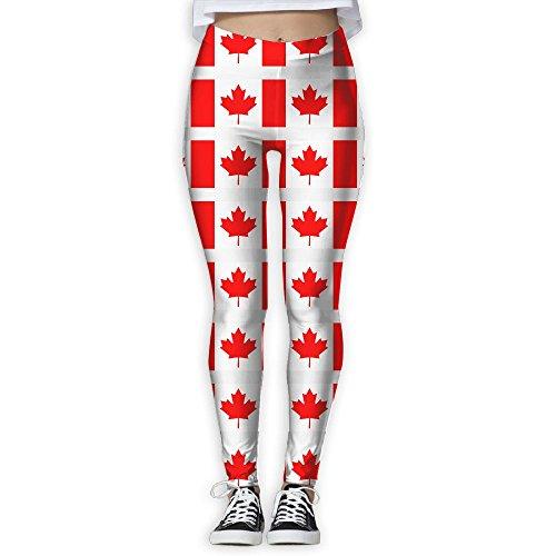 Canada Day Canada Flag Women's Activewear High-Waist Tights Leggings Yoga Pants L (Best Leggings Brand Canada)
