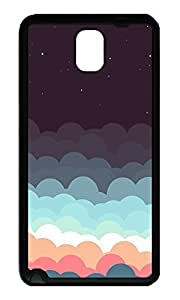 Note 3 Case, Galaxy Note 3 Case, [Perfect Fit] Soft TPU Crystal Clear [Scratch Resistant] Colorful Clouds And Stars Illustration Creativity Back Case Cover for Samsung Galaxy Note 3 N9000 Cases