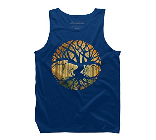 (Druid Tree Men's Small Royal Graphic Tank Top - Design By Humans)