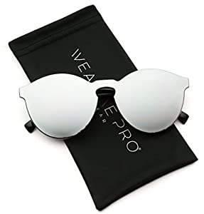 WearMe Pro - Round Super Full Lens Mirrored Sunglasses