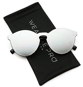 WearMe Pro - Round Super Full Lens Mirrored Sunglasses