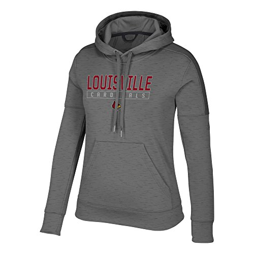 NCAA Louisville Cardinals Womens Boxed in Team Issued Fleece Pullover Hoodboxed in Team Issued Fleece Pullover Hood, Ash Gray, Large ()