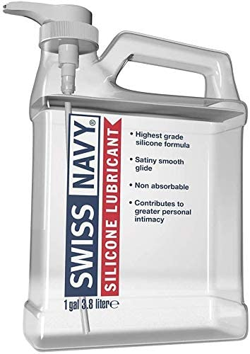 Swiss Navy Premium Silicone-Based Lubricant, 1 Gallon, Personal Sex Lube for Men, Women & Couples. MD Science Lab