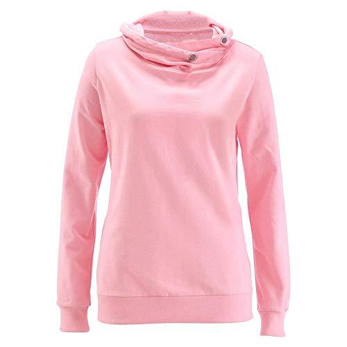Couleurs Pull Marque Rose Chemises Hiver Tops Bolawoo Longues Manches Mode Élégant Jeune Sweat Solides Confortable Épais Décontracté Femmes Automne À Chaud 5R8nRO