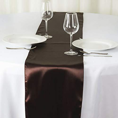Mikash 12 x 108 Satin Table Runner Wedding Party Dinner Table Supply Decorations Sale | Model WDDNGDCRTN - 1871 | 36 pcs