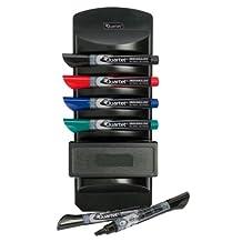 Quartet EnduraGlide Dry-Erase Marker Caddy, Chisel Tip, 6 Markers, Eraser Included (559)