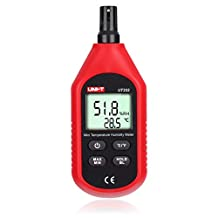 UT333 Mini Digital Air Temperature and Humidity Meter by LEANINGTECH Portable LCD Digital Thermometer Psychrometer Thermo-Hygrometer for Household, °C/°F Switchable