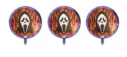 3 Scream Foil Balloons - Multipack of 3 Mylar -