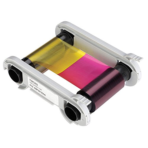 Evolis R6F003AAA 6 Panel Color Ribbon, Ymcko-K, 200 Prints/Roll ()
