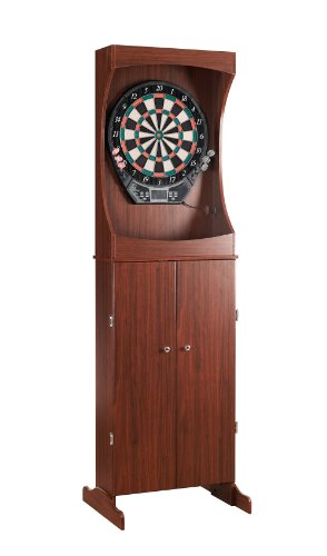 Full Size Wood Cabinet Dartboard Set by SplashNet
