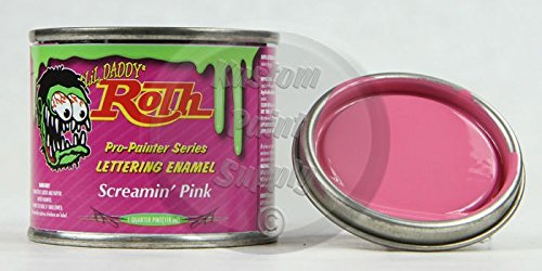 Lil' Daddy Roth 1/4 Pint Pinstriping Enamel – Screamin' Pink
