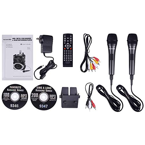 Karaoke GF842 DVD/CDG/MP3G Karaoke System with 7'' TFT Color Screen, Record, Bluetooth and LED Sync Lights by Karaoke USA (Image #14)